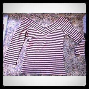 💸Off the Shoulder Club Monaco Shirt